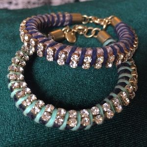 J.Crew rhinestone bracelets